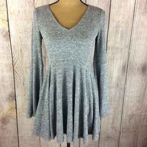 American Rag Ribbed Bell Sleeve Thermal Dress Sz M
